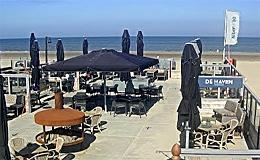 Кафе на пляже Zandvoort (Голландия)