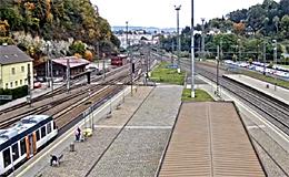 Железнодорожная станция Ousteckém (Чехия)