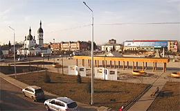 Канск. Площадь Коростелева (Красноярский край)