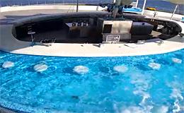 Одесса. Дельфинарий «Немо», джакузи с аквабаром