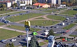Лодзь. Площадь Rondo Inwalidow (Польша)