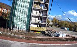 Петропавловск-Камчатский. Строительствыо жилого дома на улице Кутузова