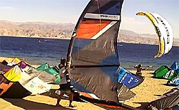 Веб камера Эйлат. Серфинг-центр на пляже Альмог (Израиль)